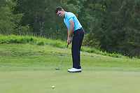 Peter McKeever (Castle) on the 16th green during Round 4 of the Connacht Stroke Play Championship 2019 at Portumna Golf Club, Portumna, Co. Galway, Ireland. 09/06/19<br /> <br /> Picture: Thos Caffrey / Golffile<br /> <br /> All photos usage must carry mandatory copyright credit (© Golffile | Thos Caffrey)