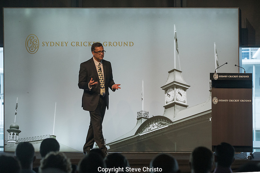 Jack Marsh History Lecture 2016 - Tom Wills: First Wild Man of Australian Sport at the Sydney Cricket Ground. Sydney, Australia, Saturday, January. 16th, 2016. (Photo: Steve Christo)