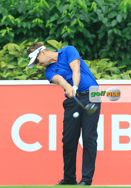 Rikard Karlberg (SWE) on the 5th tee during Round 3 of the CIMB Classic in the Kuala Lumpur Golf &amp; Country Club on Saturday 1st November 2014.<br /> Picture:  Thos Caffrey / www.golffile.ie