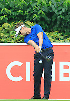 Rikard Karlberg (SWE) on the 5th tee during Round 3 of the CIMB Classic in the Kuala Lumpur Golf & Country Club on Saturday 1st November 2014.<br /> Picture:  Thos Caffrey / www.golffile.ie