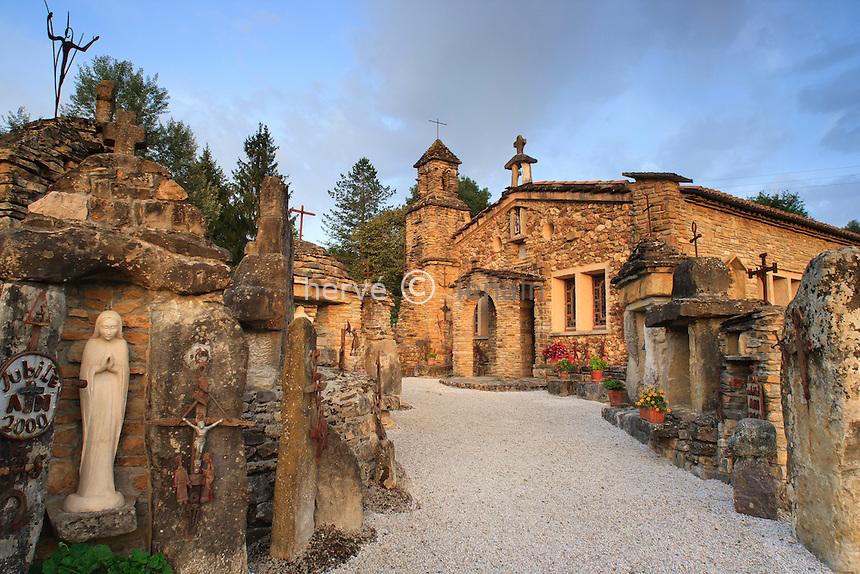 France, Ariège (09), Montardit, chapelle Notre-Dame de la Goutte // France, Ariege, Montardit, chapel Notre-Dame de la Goutte
