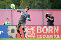 Philadelphia Independence goalkeeper Karina LeBlanc (23). The Philadelphia Independence defeated Sky Blue FC 4-1 during a Women's Professional Soccer (WPS) match at Yurcak Field in Piscataway, NJ, on June 19, 2010.
