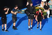 11th January 2018, ASB Tennis Centre, Auckland, New Zealand; ASB Classic, ATP Mens Tennis;  Juan Martin Del Potro (ARG) during the ASB Classic ATP Men's Tournament Day 4 Quarter Finals