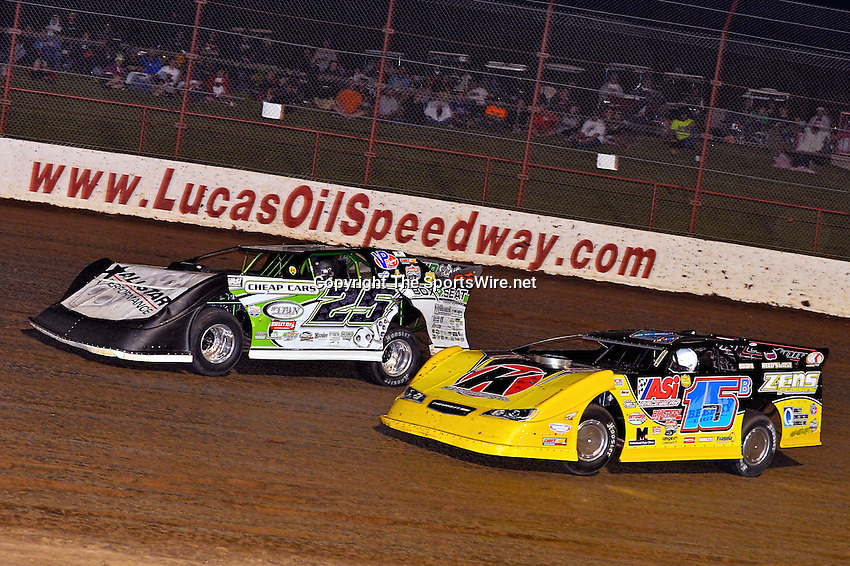 May 25, 2013; 11:04:51 PM; Wheatland, Mo., USA; The  Lucas Oil Late Model Dirt Series running the 21st Annual Lucas Oil Show-Me 100 Presented by ProtectTheHarvest.com.  Mandatory Credit: (thesportswire.net)