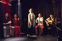 """Edinburgh, UK. 02.08.2016. Alba Flamenca presents the self-titled show, """"Alba Flamenca"""", as part of the Edinburgh Festival Fringe.  Picture shows: Pedro Morote, Gabriela Pouso, MAria del Mar Suarez (standing), Inma Montero, Danielo Olivera, Daniel Martinez. Photograph © Jane Hobson."""