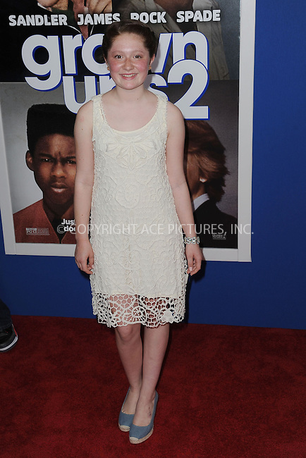 WWW.ACEPIXS.COM<br /> July 10, 2013...New York City <br /> <br /> Emma Kenney attending the Columbia Pictures New York Screening of &quot;Grown Ups 2&quot;  at AMC Loews Lincoln Square on July 10, 2013 in New York City.<br /> <br /> Please byline: Kristin Callahan... ACE<br /> Ace Pictures, Inc: ..tel: (212) 243 8787 or (646) 769 0430..e-mail: info@acepixs.com..web: http://www.acepixs.com
