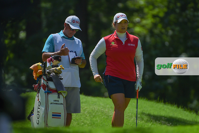 Ariya Jutanugarn (THA) looks over her tee shot on 2 during round 3 of the U.S. Women's Open Championship, Shoal Creek Country Club, at Birmingham, Alabama, USA. 6/2/2018.<br /> Picture: Golffile | Ken Murray<br /> <br /> All photo usage must carry mandatory copyright credit (© Golffile | Ken Murray)