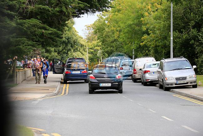 Tullyallen School congestion<br /> Picture Fran Caffrey www.newsfile.ie