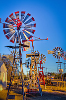 The Shattuck Windmill Museum located in Shattuck Oklahoma is home to more than 50 restored windmills.