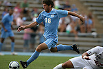 06 September 2009: UNC's Enzo Martinez scores a goal. The University of North Carolina Tar Heels defeated the Evansville University Purple Aces 4-0 at Fetzer Field in Chapel Hill, North Carolina in an NCAA Division I Men's college soccer game.
