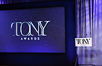 Stage and Atmosphere during the 2018 Tony Awards Nominations Announcement at The New York Public Library for the Performing Arts on May 1, 2018 in New York City.