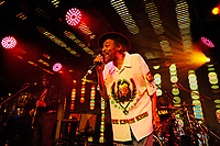 LONDON, ENGLAND - OCTOBER 5: Angus Gaye of 'Aswad' performing at Under The Bridge on October 5, 2018 in London, England.<br /> CAP/MAR<br /> &copy;MAR/Capital Pictures