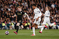 26th February 2020; Estadio Santiago Bernabeu, Madrid, Spain; UEFA Champions League Football, Real Madrid versus Manchester City; Kevin De Bruyne (Manchester City) in action