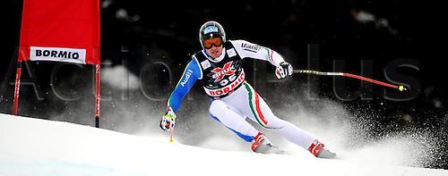 28 12 2009  Ski Alpine FIS WC Bormio Training men Bormio Italy 28 Dec 09 Ski Alpine FIS World Cup Downhill Training the men Picture shows Stefan Thanei ITA .