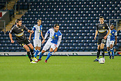 3rd October 2017, Ewood Park, Blackburn, England; Football League Trophy Group stage, Blackburn Rovers versus Bury; Blackburns Danny Graham  eyes the ball after a cross by Burys Eoghan O'Connell