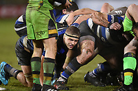 Tom Ellis of Bath Rugby in action at a scrum. Anglo-Welsh Cup Semi Final, between Bath Rugby and Northampton Saints on March 9, 2018 at the Recreation Ground in Bath, England. Photo by: Patrick Khachfe / Onside Images