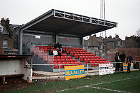 The main stand at Clapton FC Football Ground, Old Spotted Dog, Upton Park, London, pictured on 27th November 1994