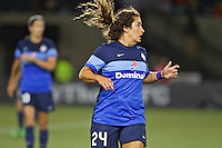 Portland, Oregon - Saturday July 9, 2016: FC Kansas City defender Molly Menchel (24) during a regular season National Women's Soccer League (NWSL) match at Providence Park.