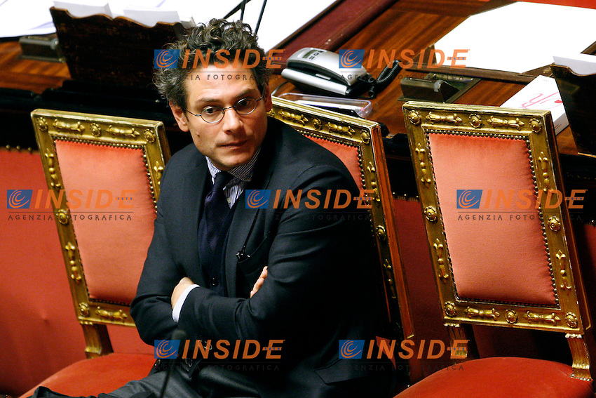Michael Martone.Roma 25/01/2012 Senato. Comunicazioni del Presidente del Consiglio..Photo Samantha Zucchi Insidefoto