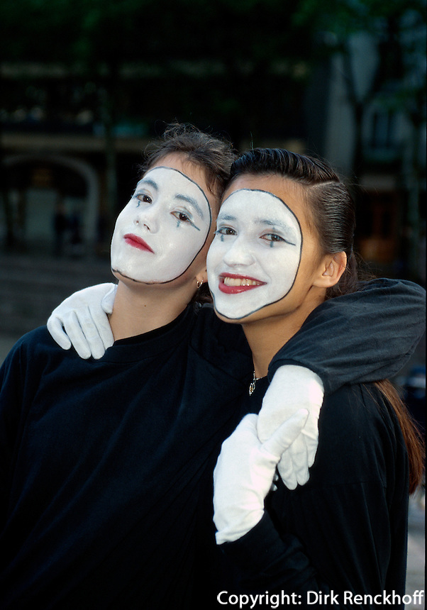 Spanien, Baskenland (Euskadi), Vitoria-Gasteiz, Pantomimen.