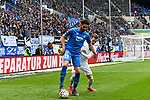 14.04.2019, PreZero Dual Arena, Sinsheim, GER, 1. FBL, TSG 1899 Hoffenheim vs. Hertha BSC Berlin, <br /> <br /> DFL REGULATIONS PROHIBIT ANY USE OF PHOTOGRAPHS AS IMAGE SEQUENCES AND/OR QUASI-VIDEO.<br /> <br /> im Bild: Ishak Belfodil (TSG Hoffenheim #19) gegen Peter Pekarik (#2, Hertha BSC Berlin)<br /> <br /> Foto &copy; nordphoto / Fabisch