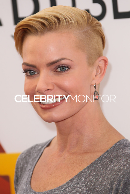 "LOS ANGELES, CA - JANUARY 11: Actress/Model Jaime Pressly arrives at the World Premiere Of Open Road Film's ""The Nut Job"" held at Regal Cinemas L.A. Live on January 11, 2014 in Los Angeles, California. (Photo by Xavier Collin/Celebrity Monitor)"