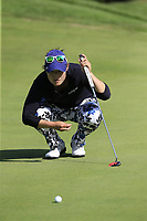Tiffany Joh (USA) on the 5th green during Thursday's Round 1 of The Evian Championship 2018, held at the Evian Resort Golf Club, Evian-les-Bains, France. 13th September 2018.<br /> Picture: Eoin Clarke | Golffile<br /> <br /> <br /> All photos usage must carry mandatory copyright credit (&copy; Golffile | Eoin Clarke)