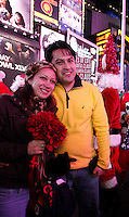 USA, NEW YORK, December 10, 2011.Times Sqare wedding in New York,December 10, 20111. VIEWpress / Kena Betancur.