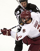 Garrett Gamez (PC - 13), Scott Savage (BC - 2) - The Boston College Eagles defeated the visiting Providence College Friars 3-1 on Friday, October 28, 2016, at Kelley Rink in Conte Forum in Chestnut Hill, Massachusetts.The Boston College Eagles defeated the visiting Providence College Friars 3-1 on Friday, October 28, 2016, at Kelley Rink in Conte Forum in Chestnut Hill, Massachusetts.