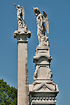 Statues in Laurel Hill Cemetery in Philadelphia