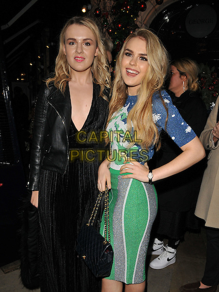 Tallia Storm &amp; her sister ( left ) attend the LOVE magazine Christmas party, George Club, Mount Street, London, UK, on Friday 18 December 2015.<br /> CAP/CAN<br /> &copy;Can Nguyen/Capital Pictures