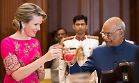 King Philippe of Belgium, Queen Mathilde of Belgium attend the Sate Banquet in New Delhi - India