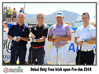 Lee Westwood (ENG) team on the 10th tee during Wednesday's Pro-Am of the 2018 Dubai Duty Free Irish Open, held at Ballyliffin Golf Club, Ireland. 4th July 2018.<br /> Picture: Eoin Clarke | Golffile<br /> <br /> <br /> All photos usage must carry mandatory copyright credit (&copy; Golffile | Eoin Clarke)