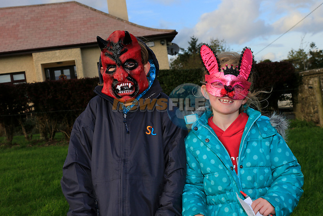 Harry and Hachira Right Byrne at the fancy dress in Slane<br /> Picture: Fran Caffrey www.newsfile.ie