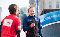 Picture by Allan McKenzie/SWpix.com - 24/09/2017 - Cycling - HSBC UK City Ride Liverpool - Albert Dock, Liverpool, England - Neil and Lora Fachie interviewed.