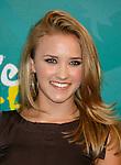 UNIVERSAL CITY, CA. - August 09: Actress Emily Osment poses in the press room during the Teen Choice Awards 2009 held at the Gibson Amphitheatre on August 9, 2009 in Universal City, California.