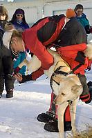 Rachael Scdoris Cares for Her Team @ McGrath Chkpt 2005 Iditarod