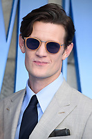 Matt Smith arriving for the &quot;Mama Mia! Here We Go Again&quot; world premiere at the Eventim Apollo, Hammersmith, London, UK. <br /> 16 July  2018<br /> Picture: Steve Vas/Featureflash/SilverHub 0208 004 5359 sales@silverhubmedia.com
