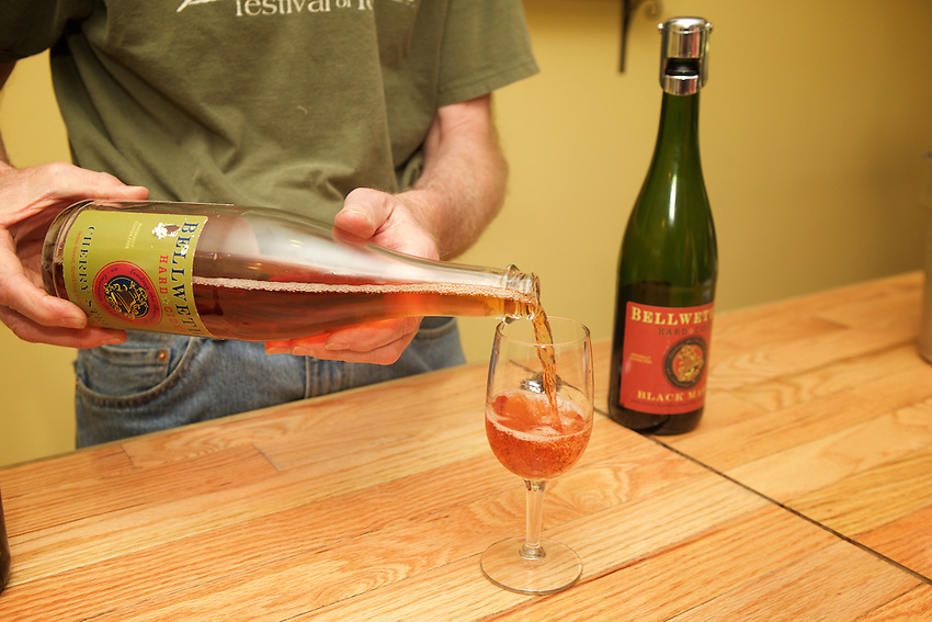 Trumansburg, NY - June 21, 2016: The Tasting Room at Bellwether Hard Cider and Wine Cellars.<br /> CREDIT: Clay Williams.<br /> <br /> &copy; Clay Williams / claywilliamsphoto.com