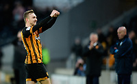 Hull City's Jarrod Bowen celebrates scoring the opening goal <br /> <br /> Photographer Chris Vaughan/CameraSport<br /> <br /> The EFL Sky Bet Championship - Hull City v Sheffield Wednesday - Saturday 12th January 2019 - KCOM Stadium - Hull<br /> <br /> World Copyright &copy; 2019 CameraSport. All rights reserved. 43 Linden Ave. Countesthorpe. Leicester. England. LE8 5PG - Tel: +44 (0) 116 277 4147 - admin@camerasport.com - www.camerasport.com
