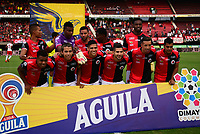 CÚCUTA- COLOMBIA, 20-0-2019:Formación del Cúcuta Deportivo ante el Independiente Santa Fe  durante partido por la fecha 2 de la Liga Águila II  2019 jugado en el estadio General Santander de la ciudad de Cúcuta . /Team of Cucuta Deportivo agaisnt of Independiente Santa Fe   during the match for the date 2 of the Liga Aguila II 2019 played at the General Santander  stadium in Cucuta  city. Photo: VizzorImage / Manuel Hernández  / Contribuidor