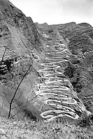 U.S. Convoy which operates between Chen-Yi and Kweiyang, China, is ascending the famous twenty-one curves at Annan, China.  March 26, 1945.  Pfc. John F. Albert.  (Army)<br /> NARA FILE #:  111-SC-208807<br /> WAR & CONFLICT BOOK #:  1158