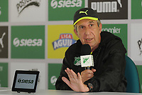 CALI -COLOMBIA-16-01-2018: Gerardo Pelusso técnico del Deportivo Cali durante rueda de prensa despues del entrenemiento previo a la Liga Águila I 2018 en la sede campestre del Club en Pance, Colombia. / Gerardo Pelusso coach of Deportivo Cali during press conference after training prior the Aguila League I 2018 at sporting headquarters in Pance, Colombia. Photo: VizzorImage/ Nelson Rios / Cont