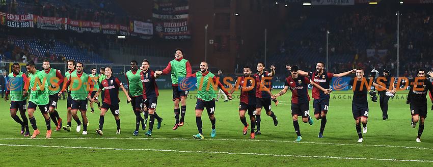 Genova 25-10-2016 Football Calcio  - campionato di calcio serie A / Genoa - Milan / foto Matteo Gribaudi/Image Sport/Insidefoto<br /> nella foto: esultanza a fine gara Genoa