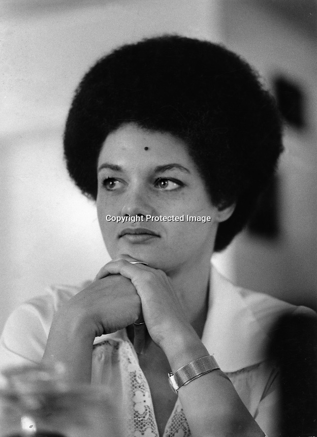 Kathleen Cleaver, wife of Black Panther Elridge Cleaver. <br /> (photo/Ron Riesterer)