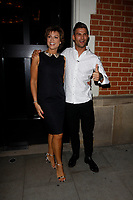 LONDON, ENGLAND - OCTOBER 08 :  Kate Silverton and Aljaz Skorjanec leave the production of 'Strictly Come Dancing : It Takes Two', at The Hospital Club Studios on October 08, 2018 in London, England.<br /> CAP/AH<br /> &copy;AH/Capital Pictures