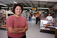 May 6th to 13th, 1985 in Navajo Reserve, AZ. Mrs Evangeline Hartsock, director of the main hardware store in Chinle which is south of Kayenta, AZ.