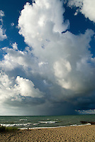 A storm cloud passes over Lake Huron looking from Canatara Park beach.
