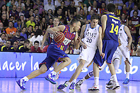14.06.2013 Bacelona, Spain. Liga Endesa Play Off titulo. Picture show Jasikevicius in action during game betwen FC BArcelona v Real Madrid at Palau Blaugrana