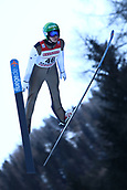 12th January 2018, Val di Fiemme, Fiemme Valley, Italy; FIS Nordic Combined World Cup, Mens Gundersen; Eero Hirvonen (FIN)